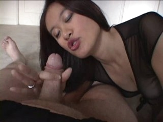 Hot Oriental teasing and engulfing