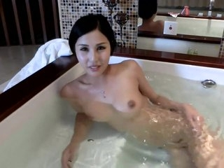 Chinese lady takes a bath  records herself