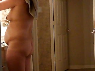 Asian Wife In Bathroom Showing Tits and Ass