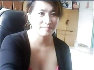 Chinese milf plays and gets caught